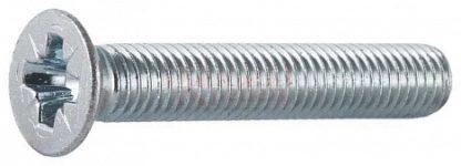 Винт DIN 965 потай, цинк, 6х25